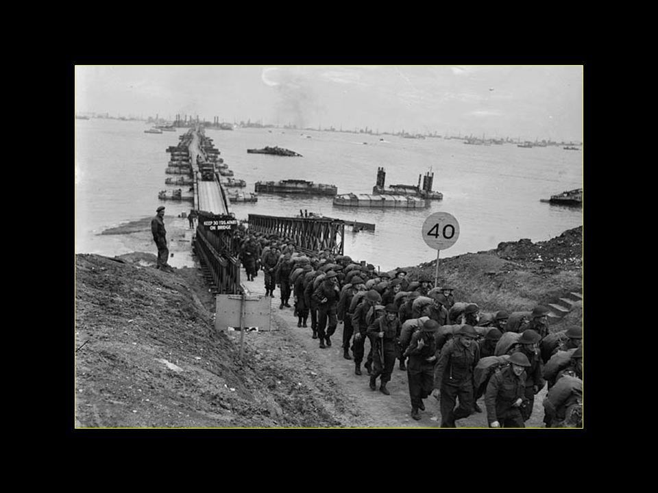 Pendant les 100 jours de fonctionnement du port ont été débarqués : 2,5 millions dhommes, 500000 véhicules, 4 millions de tonnes de matériel