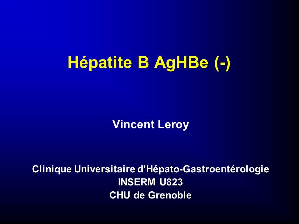 Hépatite B AgHBe (-) Vincent Leroy Clinique Universitaire dHépato-Gastroentérologie INSERM U823 CHU de Grenoble