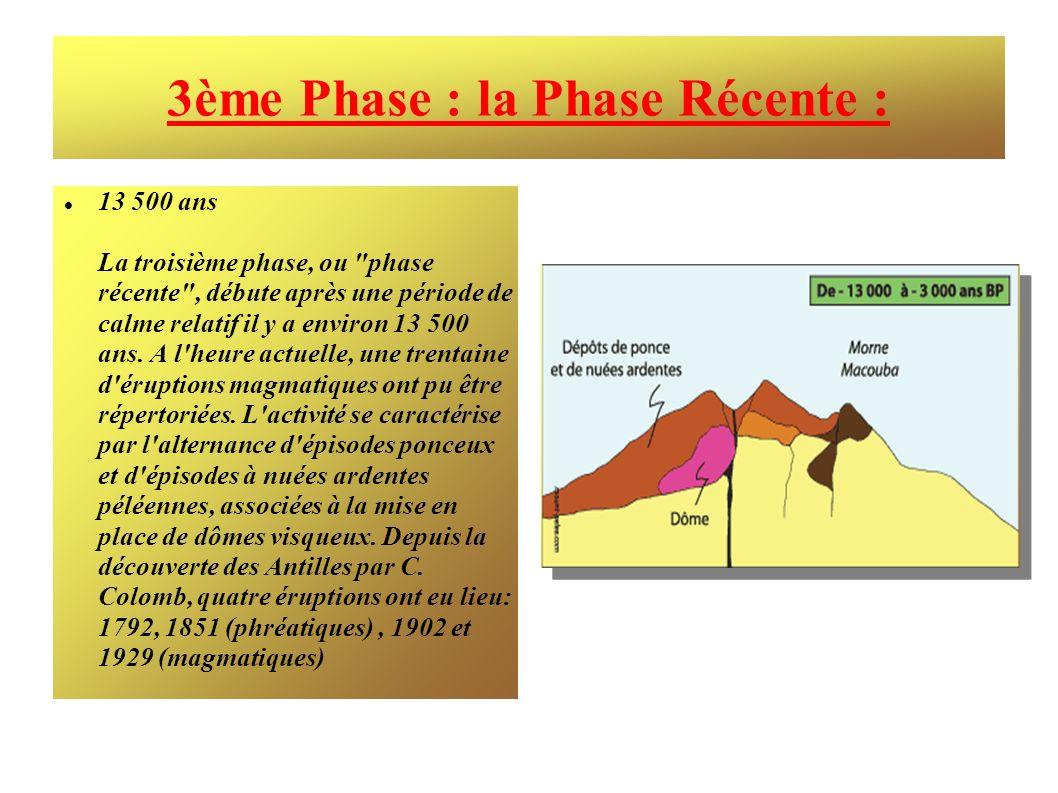 3ème Phase : la Phase Récente : 13 500 ans La troisième phase, ou