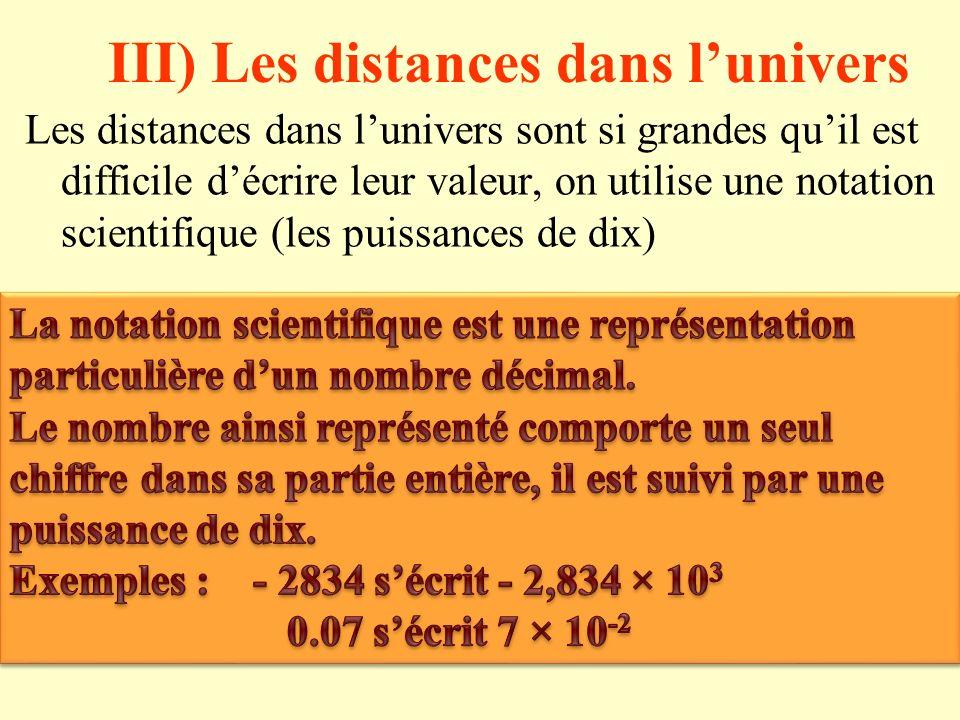 3) La vitesse de la lumière dans différents milieux