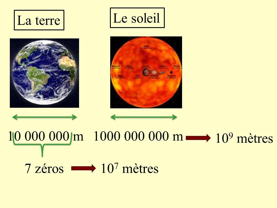 III) Les distances dans lunivers Les distances dans lunivers sont si grandes quil est difficile décrire leur valeur, on utilise une notation scientifi