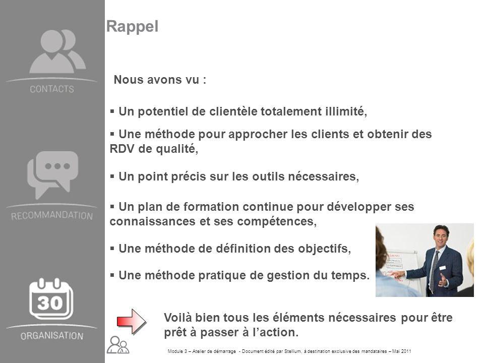 Module 3 – Atelier de démarrage - Document édité par Stellium, à destination exclusive des mandataires – Mai 2011 Un potentiel de clientèle totalement