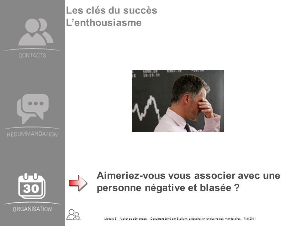 Module 3 – Atelier de démarrage - Document édité par Stellium, à destination exclusive des mandataires – Mai 2011 Aimeriez-vous vous associer avec une