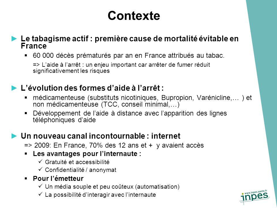 Le tabagisme actif : première cause de mortalité évitable en France 60 000 décès prématurés par an en France attribués au tabac.