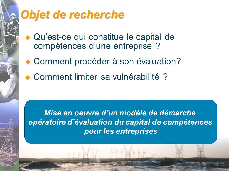 Objet de recherche Quest-ce qui constitue le capital de compétences dune entreprise .