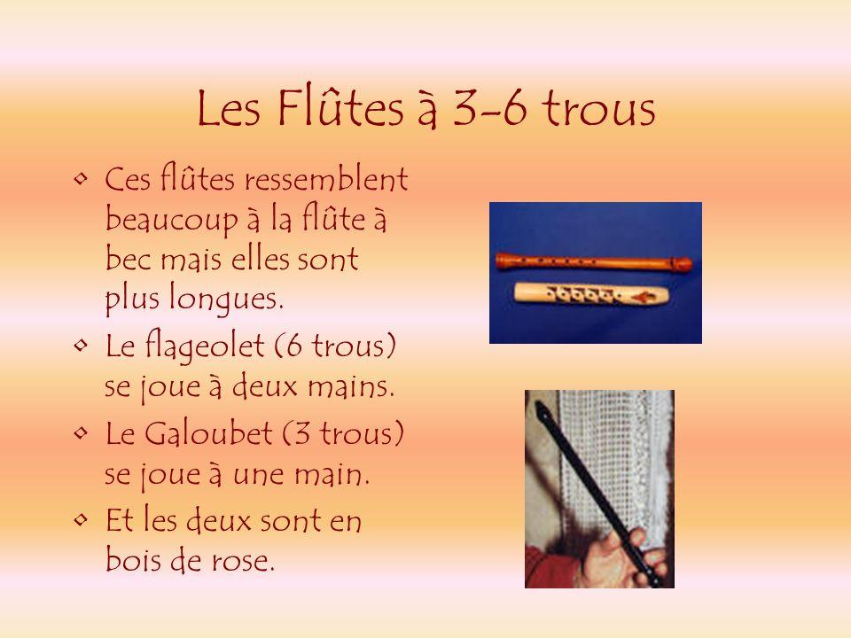 Les flûtes à bec Il y avait trois sortes de flûte à bec - sopranino - soprano - Alto Ces flûtes étaient faites en bois dérable. Sopranino Soprano Alto