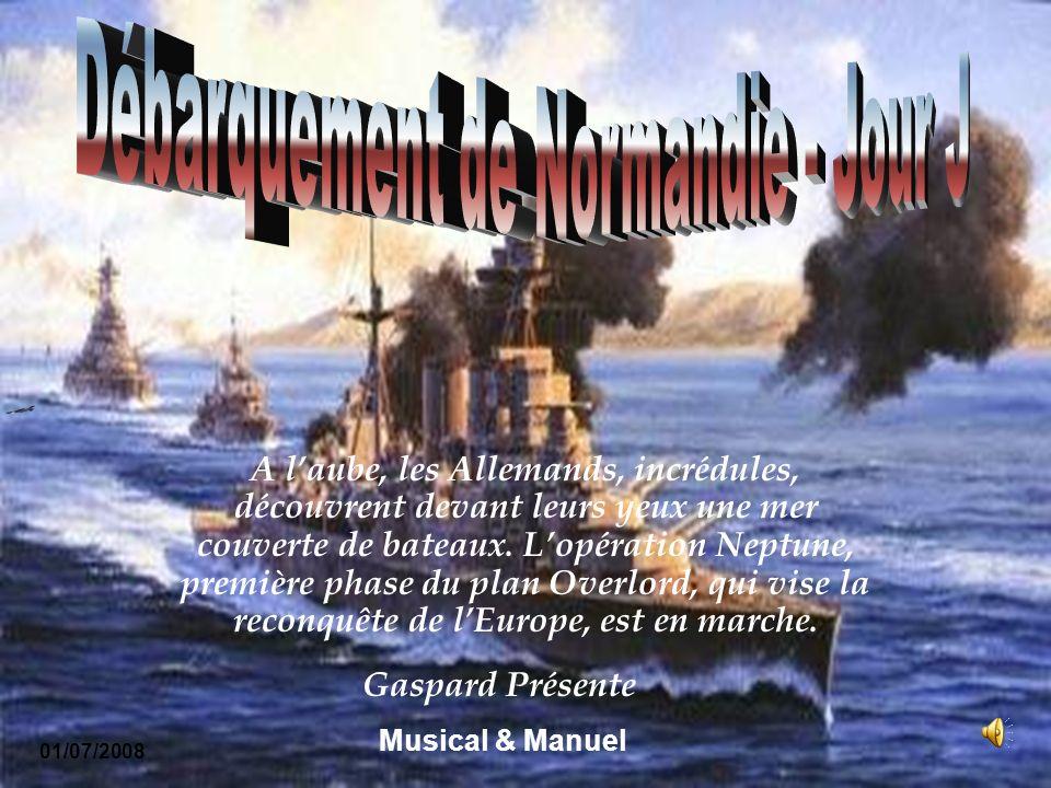 A laube, les Allemands, incrédules, découvrent devant leurs yeux une mer couverte de bateaux.
