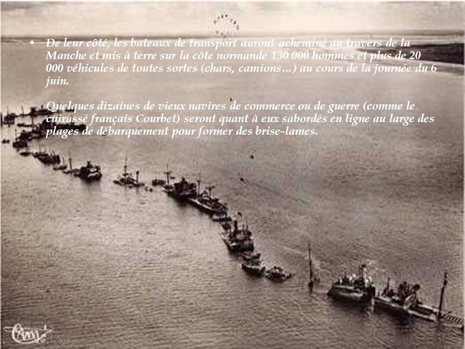 La marine assure la mise à Terre de milliers d'hommes et de machines.