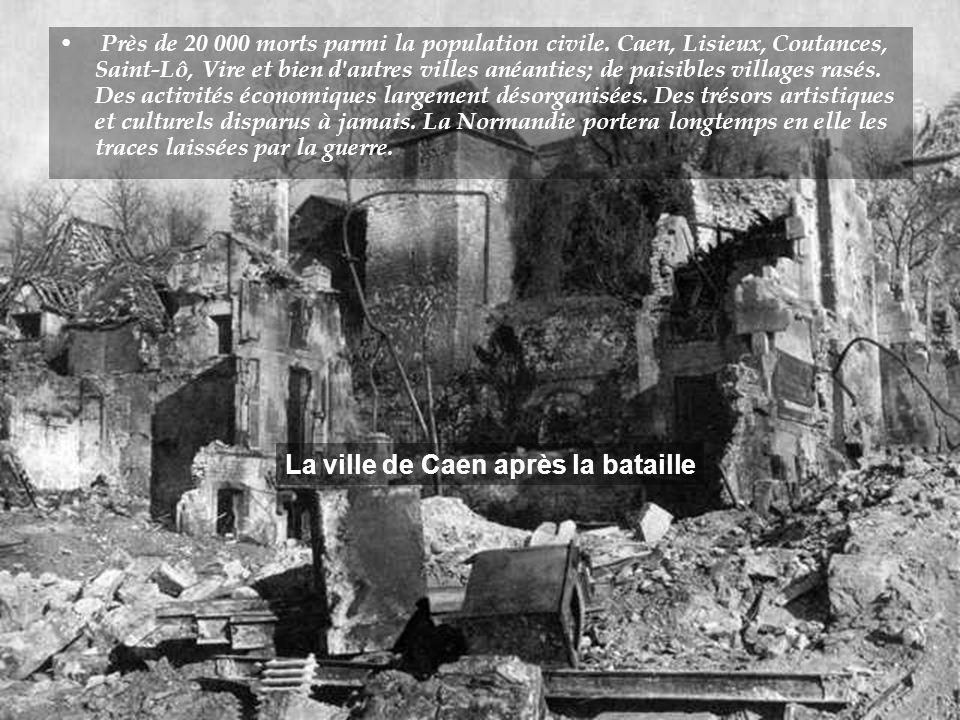 Dans les prévisions d'Overlord, la libération de la Normandie devait être accomplie en trois semaines. Il aura fallu quatre fois plus de temps pour y