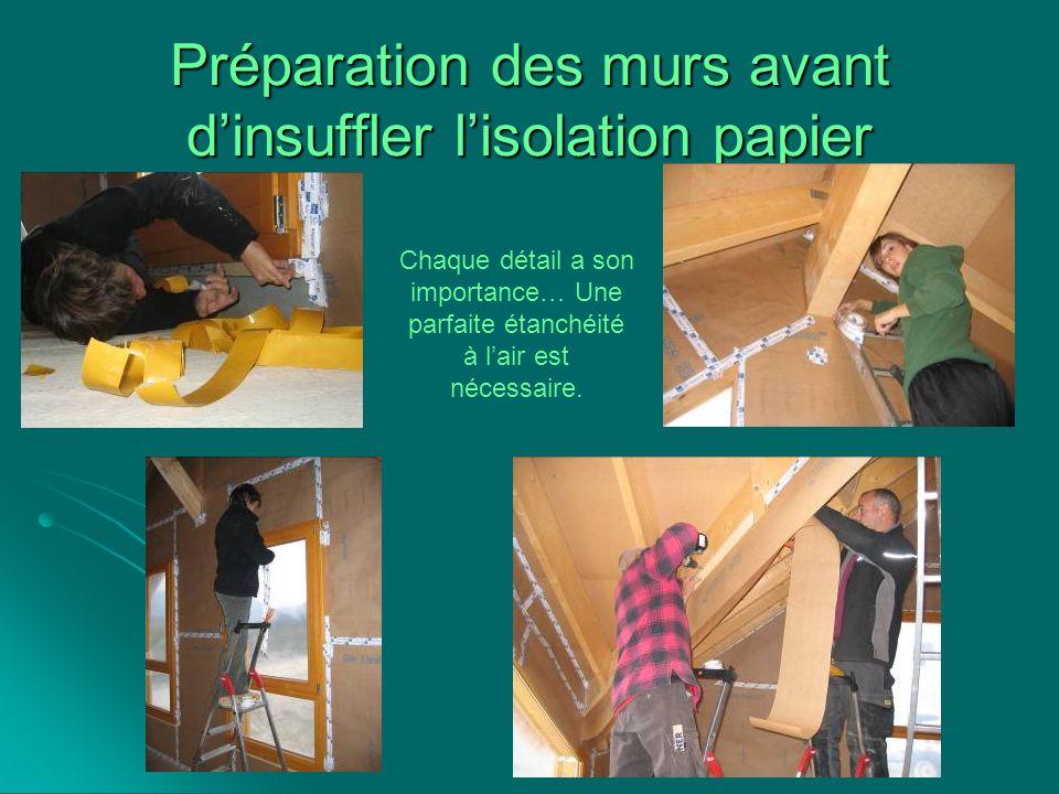 Préparation des murs avant dinsuffler lisolation papier Chaque détail a son importance… Une parfaite étanchéité à lair est nécessaire.