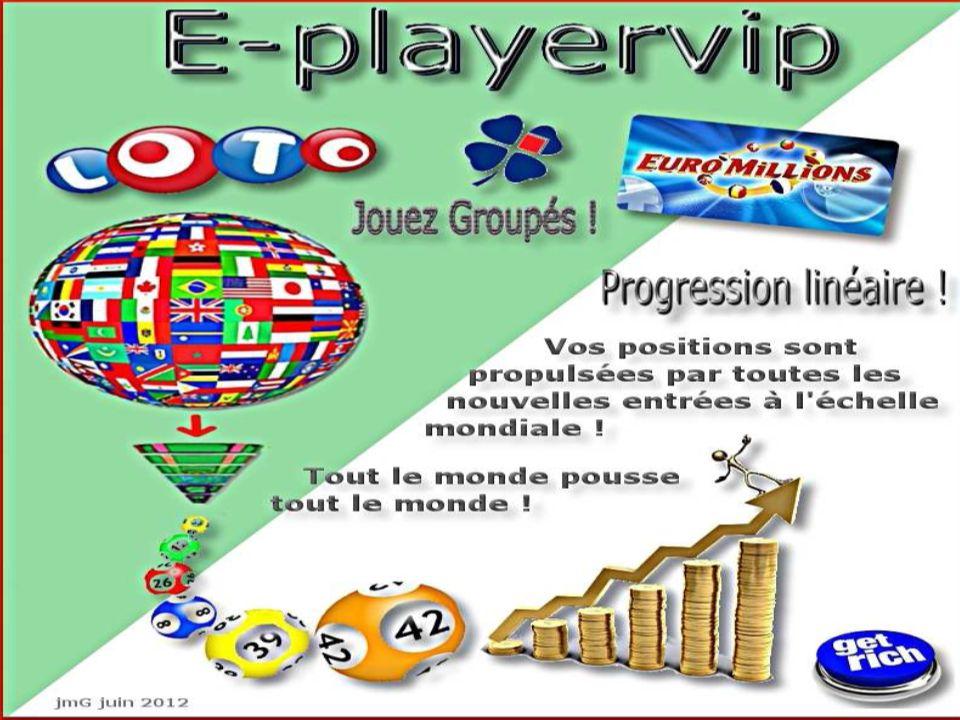 E-PLAYERVIP Un club privé, Une communauté Internationale Un plan de rémunération Révolutionnaire