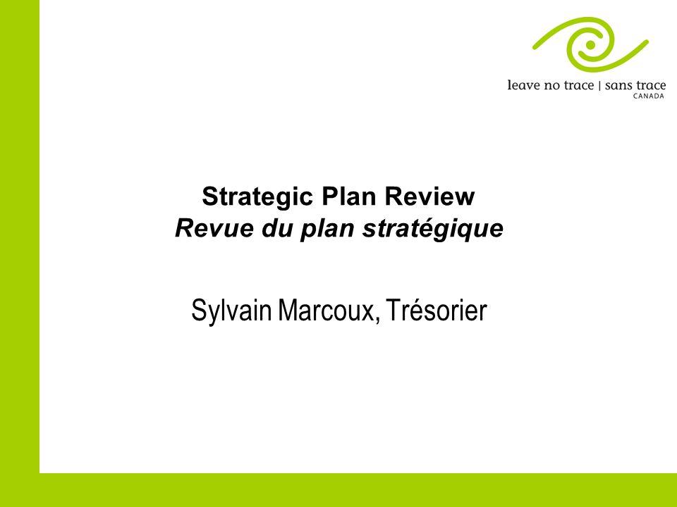 Strategic Plan Review Revue du plan stratégique Sylvain Marcoux, Trésorier