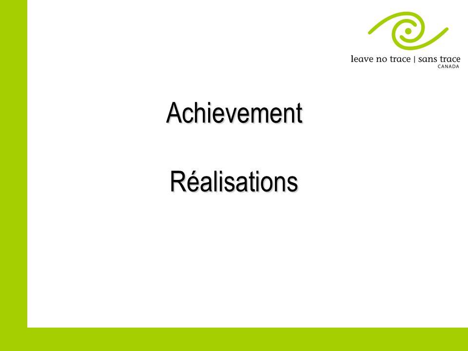 Achievement Réalisations