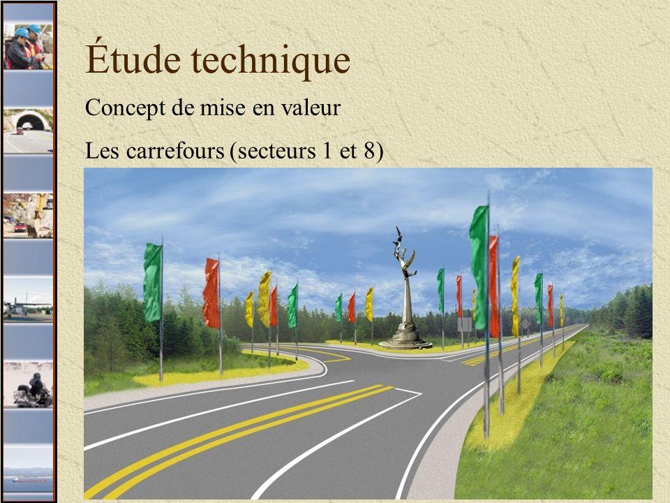 12 Étude technique Concept de mise en valeur Les carrefours (secteurs 1 et 8)