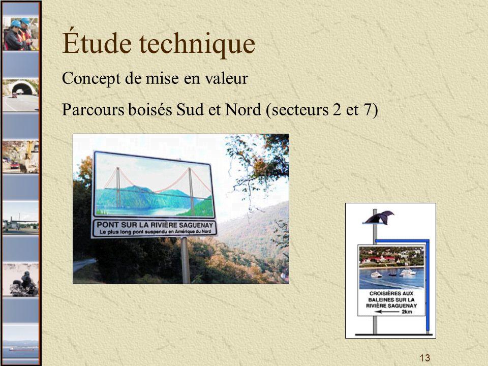 13 Étude technique Concept de mise en valeur Parcours boisés Sud et Nord (secteurs 2 et 7)