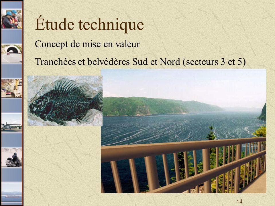 14 Étude technique Concept de mise en valeur Tranchées et belvédères Sud et Nord (secteurs 3 et 5)