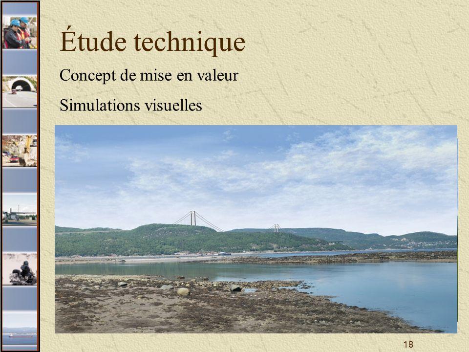 18 Étude technique Concept de mise en valeur Simulations visuelles
