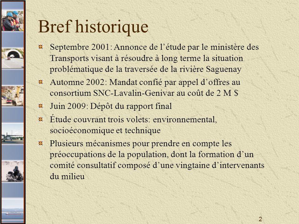 33 Le tracé S3 bifurque de la route 138 à la sortie de la municipalité de Baie-Sainte-Catherine et rejoint directement le tracé de référence.