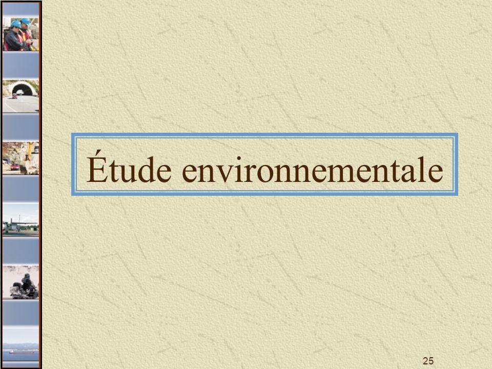 25 Étude environnementale