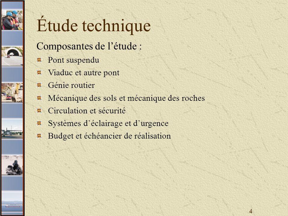15 Étude technique Concept de mise en valeur Le pont suspendu (secteur 4)