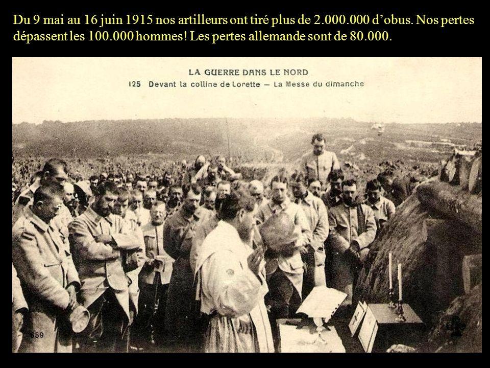 Du 10 au 16 juin 1915 (3 e bataille dArtois) nos troupes atteignent le village de Souchez! Le village sera complètement libéré le 26 septembre 1915.