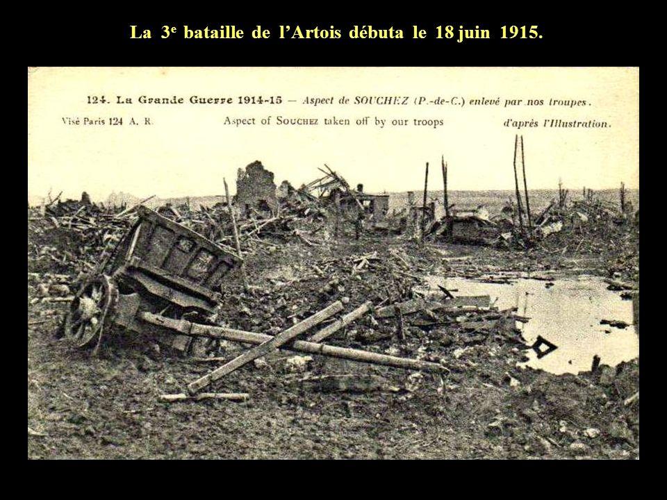 Du 9 mai au 16 juin 1915 nos artilleurs ont tiré plus de 2.000.000 dobus. Nos pertes dépassent les 100.000 hommes! Les pertes allemande sont de 80.000