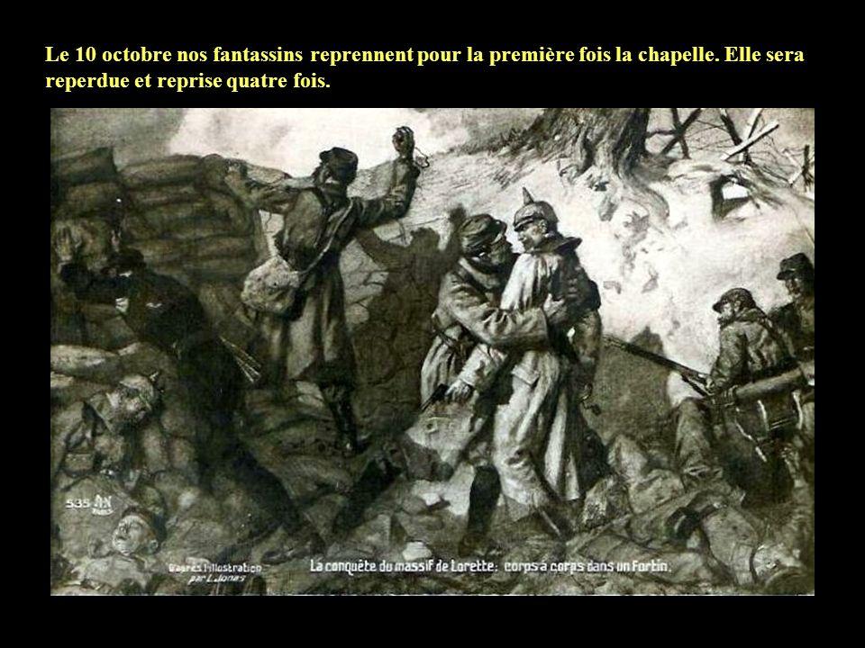 Le 8 octobre 1914 a lieu la première importante attaque française vers Carency et Ablain! Nos troupes gagnent du terrain sur le plateau de la colline