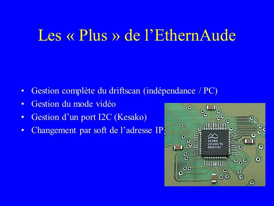 Les « Plus » de lEthernAude Gestion complète du driftscan (indépendance / PC) Gestion du mode vidéo Gestion dun port I2C (Kesako) Changement par soft