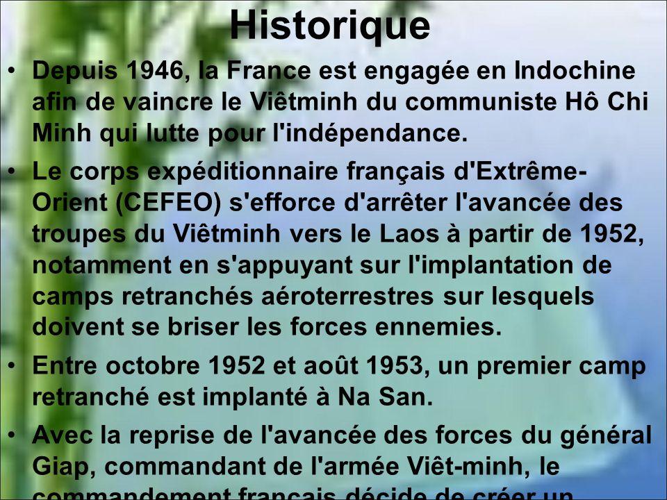 Plan du camp retranché de Diên Biên Phu.