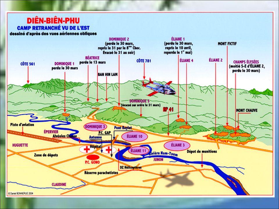 L'ordre de cessez-le-feu tombe à 17 heures. Après destruction de tout le matériel et de tout le ravitaillement, le PC de Diên Biên Phu adresse son ult