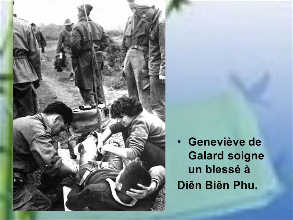 Geneviève de Galard a vingt ans quand la guerre dIndochine commence. Elle rêve daventures et veut servir. Elle choisit le métier de convoyeuse de larm