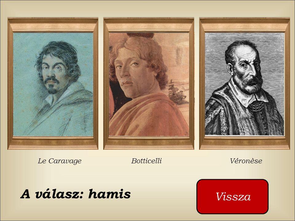 Ki festette ezt a képet ? Le Caravage Botticelli Véronèse Kattintson a piros gombra