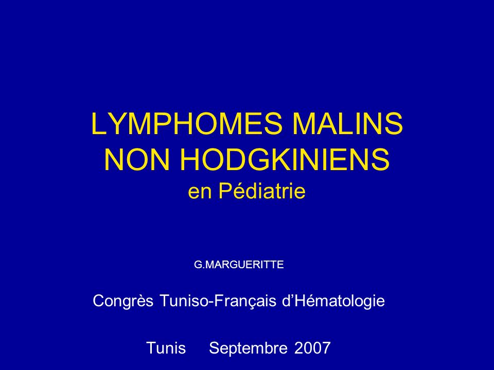 PROTOCOLESN° Age médian GROUPESEFS Facteurs de pronostic SFOP:LMB89 1989-96 (Blood 2001) 6311 a.