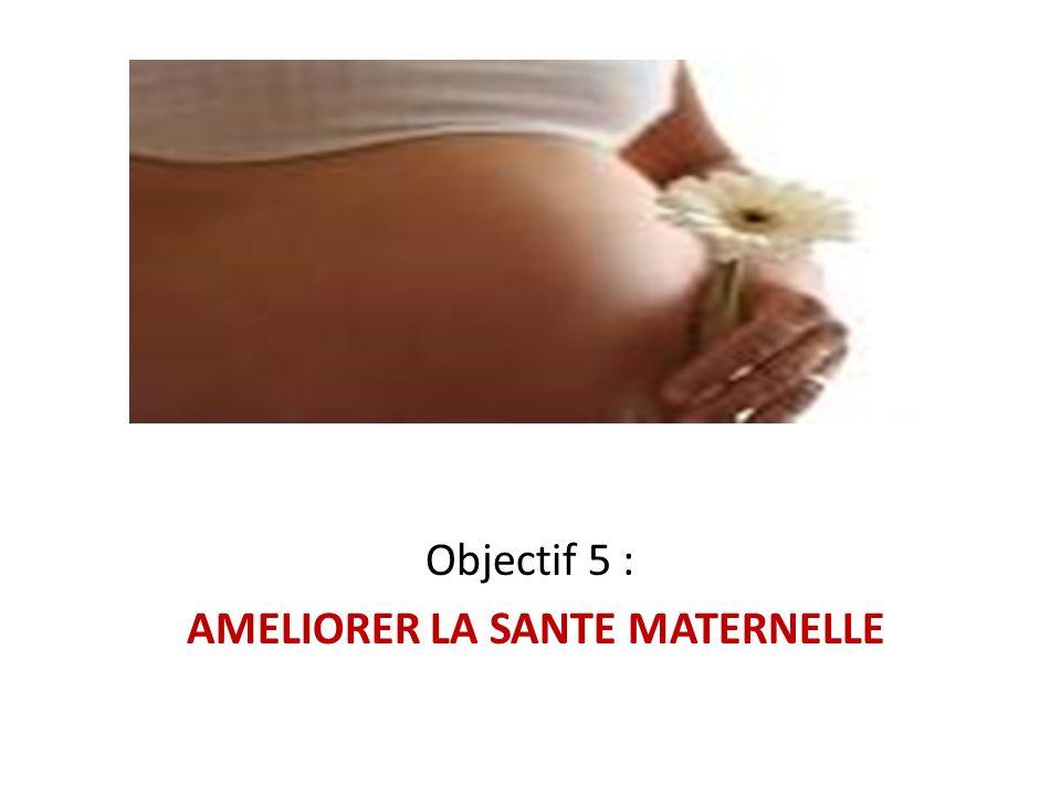 Objectif 5 : AMELIORER LA SANTE MATERNELLE