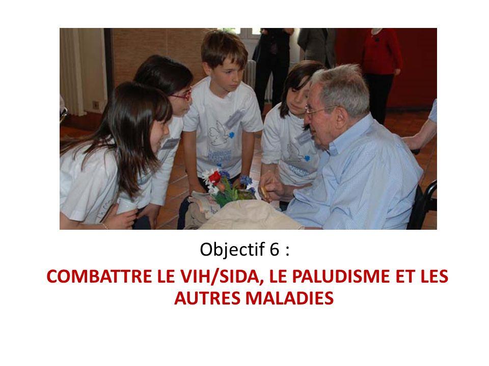 Objectif 6 : COMBATTRE LE VIH/SIDA, LE PALUDISME ET LES AUTRES MALADIES