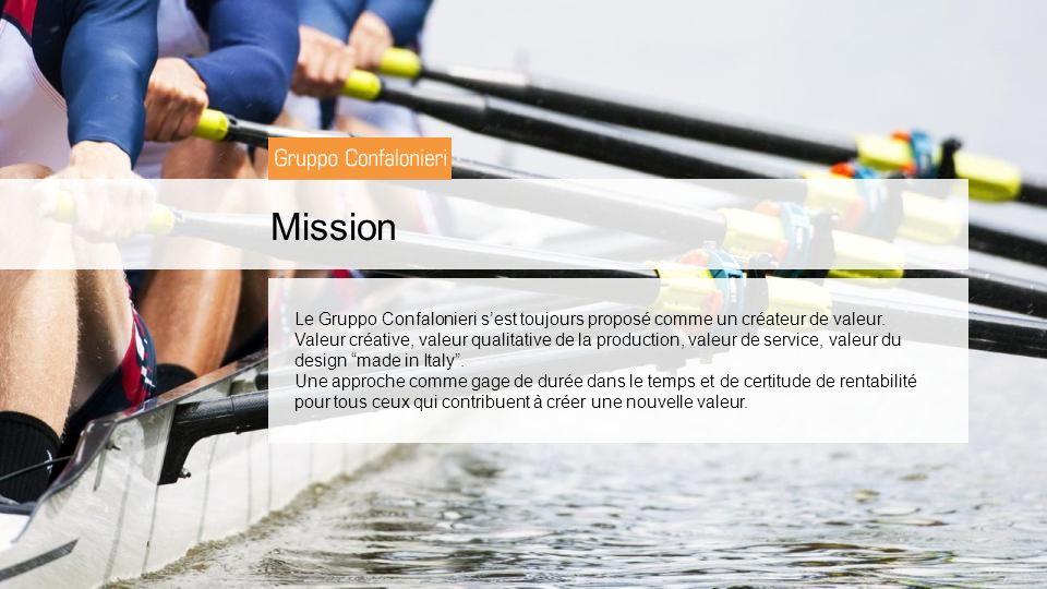Mission Le Gruppo Confalonieri sest toujours proposé comme un créateur de valeur.