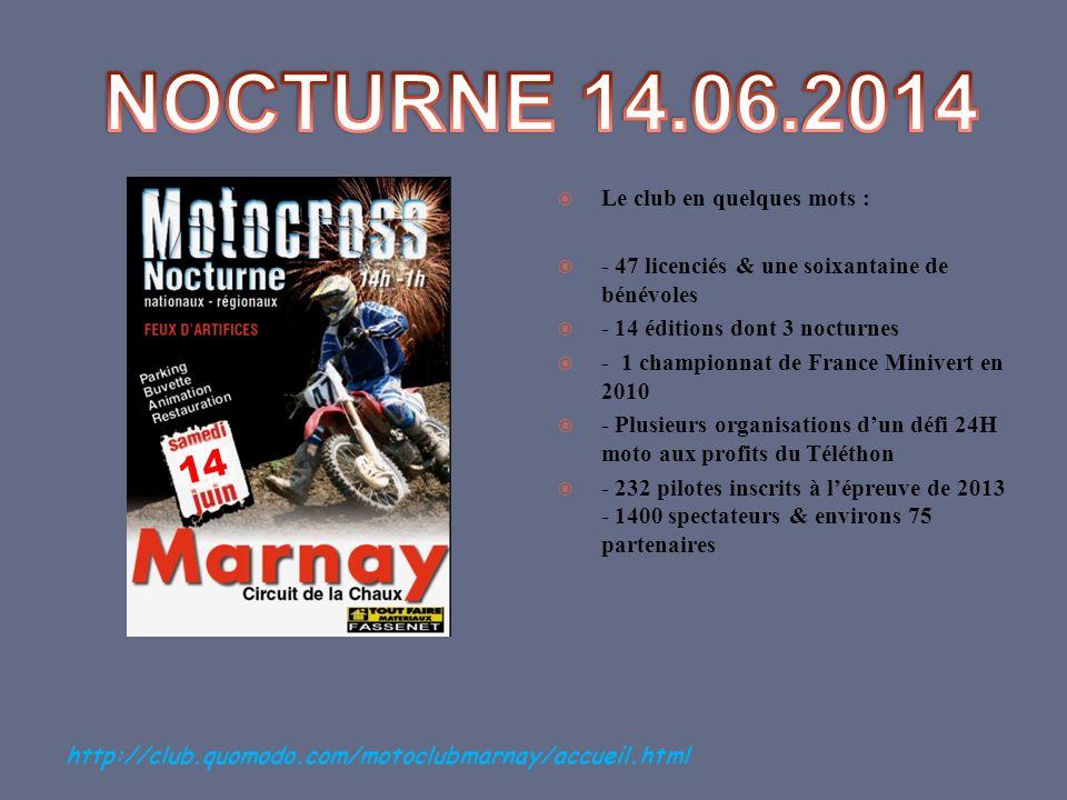 Le club en quelques mots : - 47 licenciés & une soixantaine de bénévoles - 14 éditions dont 3 nocturnes - 1 championnat de France Minivert en 2010 - P
