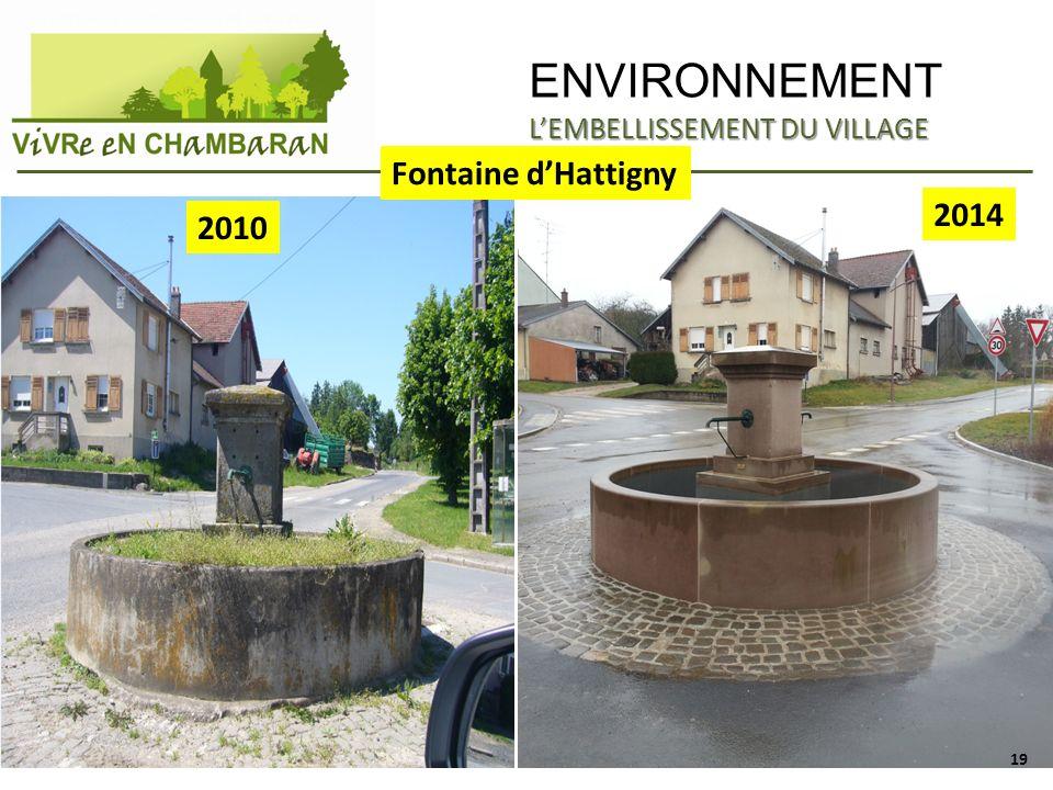 ENVIRONNEMENT APRES Fontaine dHattigny 2010 2014 LEMBELLISSEMENT DU VILLAGE 19