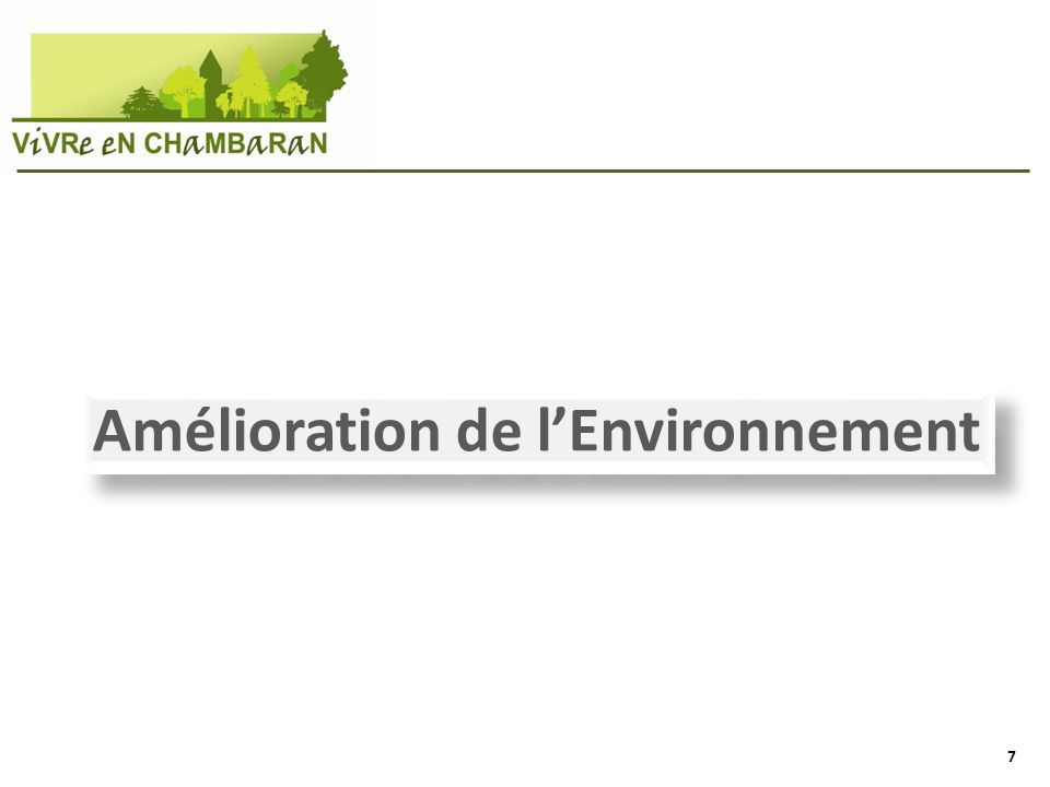 Amélioration de lEnvironnement 7