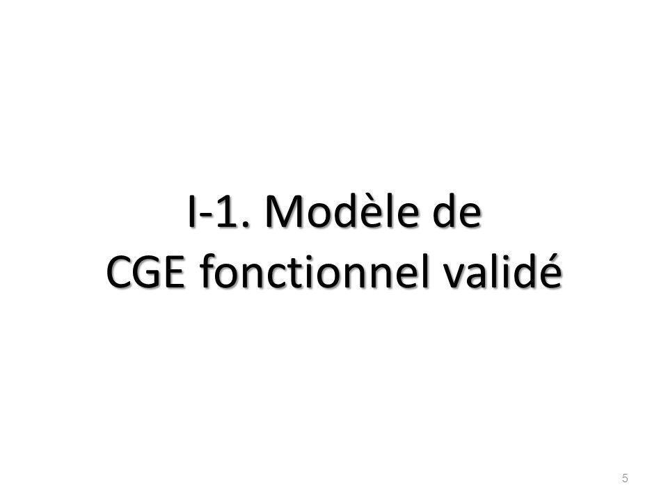 Modèle de CGE fonctionnel 6 Suivi durable Mise en place démocratique ++ Accès - Qualité - Gestion CGE fonctionnel Disponibilité dun PAV