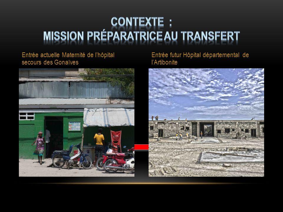 Entrée actuelle Maternité de lhôpital secours des Gonaïves Entrée futur Hôpital départemental de lArtibonite