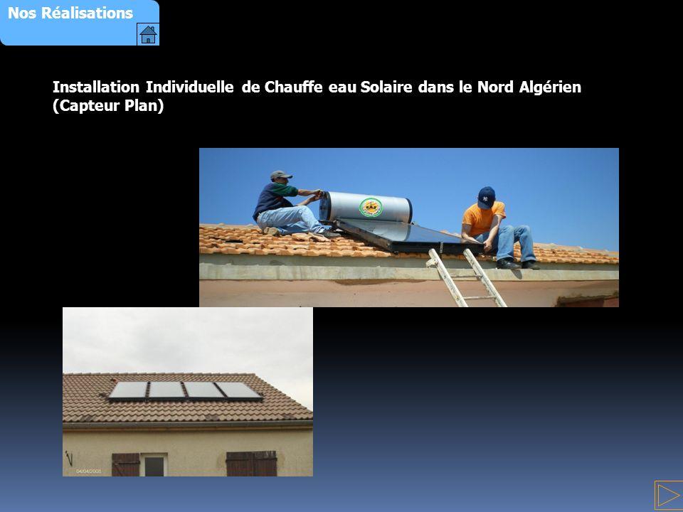 Installation Individuelle de Chauffe eau Solaire dans le Nord Algérien (Capteur Plan) Nos Réalisations