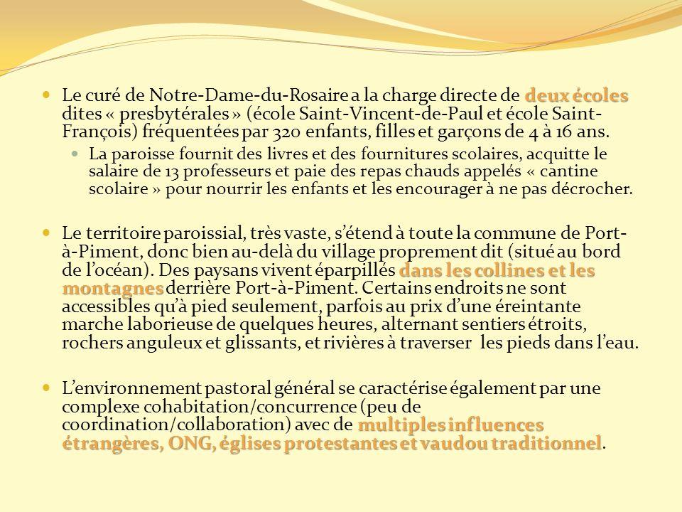 deux écoles Le curé de Notre-Dame-du-Rosaire a la charge directe de deux écoles dites « presbytérales » (école Saint-Vincent-de-Paul et école Saint- F