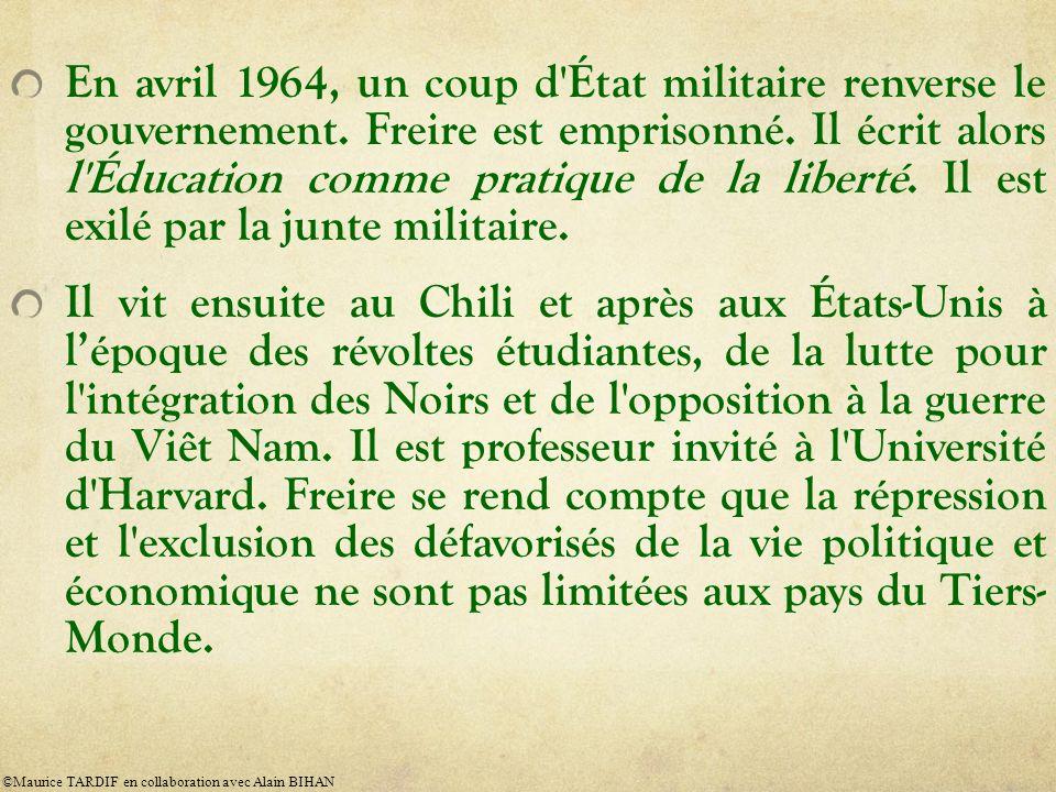 En avril 1964, un coup d État militaire renverse le gouvernement.