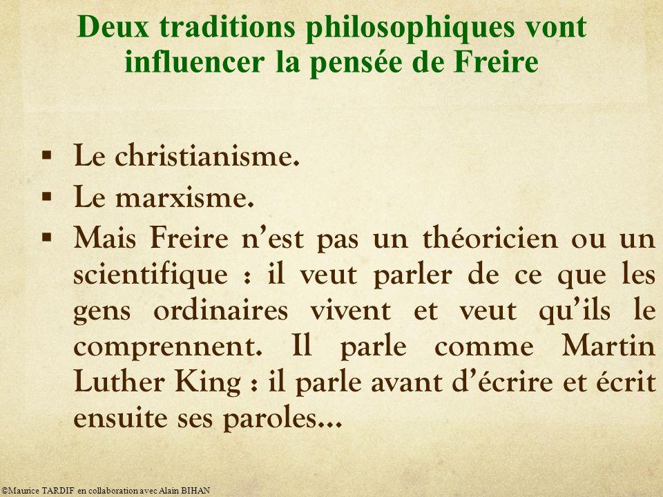 Le christianisme.Le marxisme.