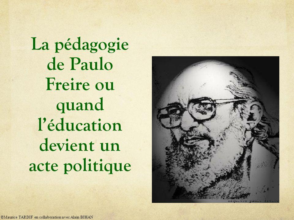 Éducation et politique Pourquoi sintéresser à Freire aujourdhui .