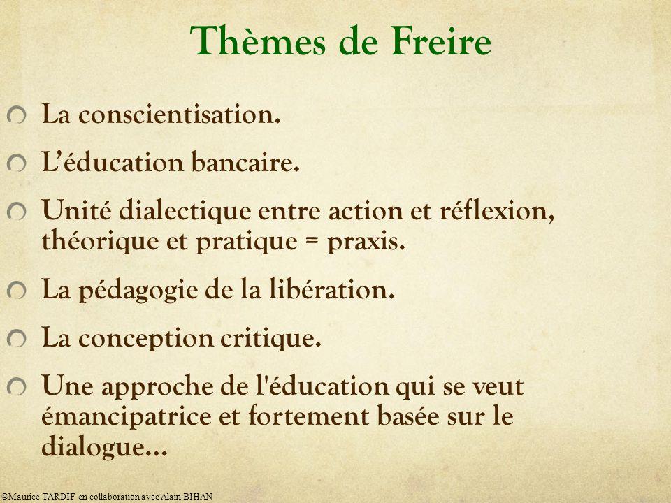 Thèmes de Freire La conscientisation.Léducation bancaire.