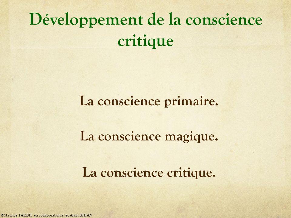 Développement de la conscience critique La conscience primaire.