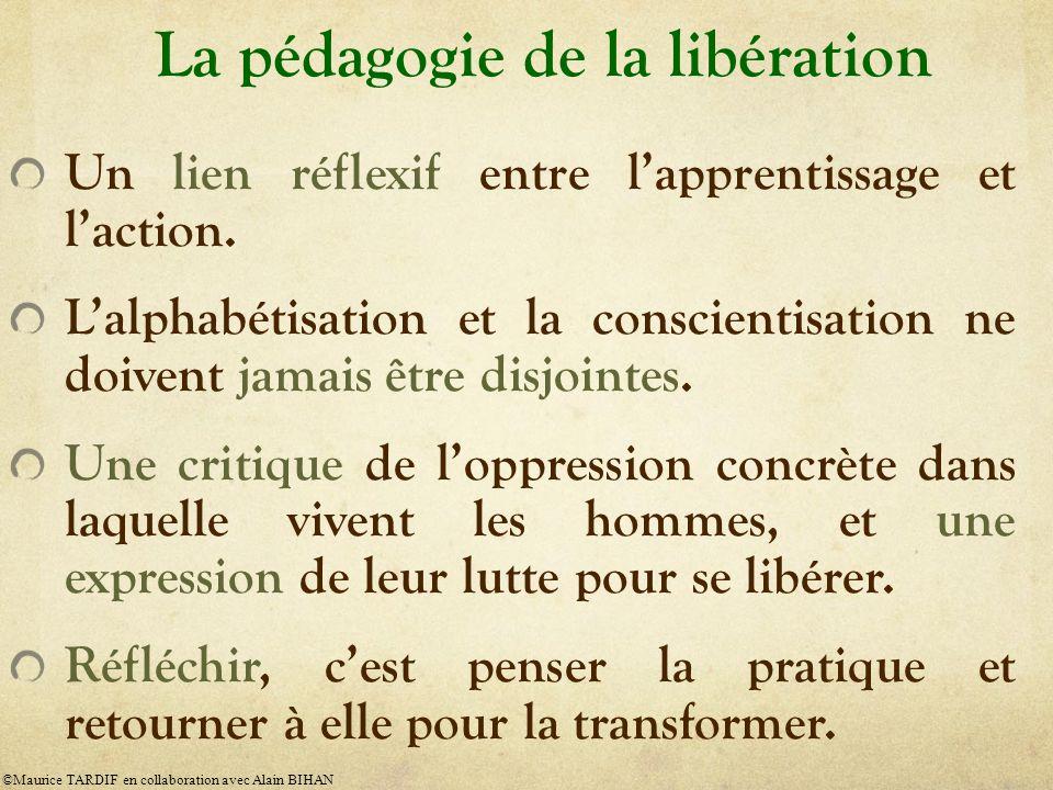 La pédagogie de la libération Un lien réflexif entre lapprentissage et laction.