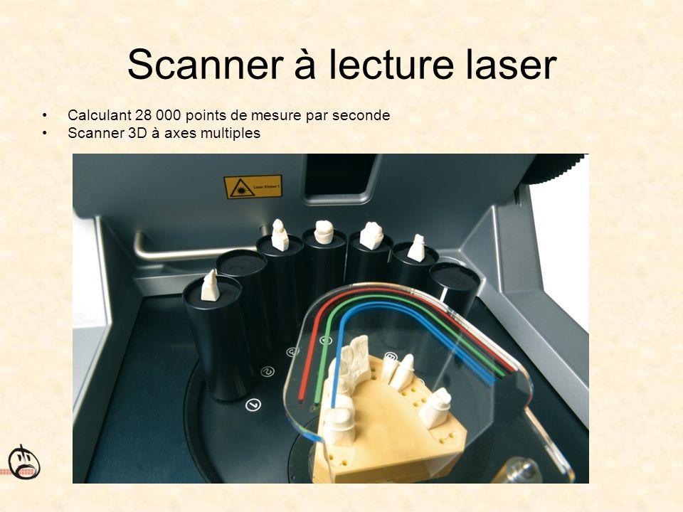 Scanner à lecture laser Calculant 28 000 points de mesure par seconde Scanner 3D à axes multiples